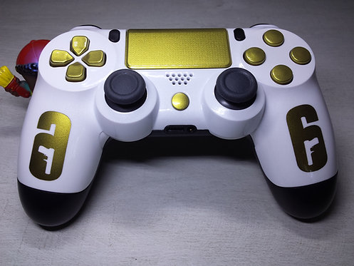 Manette PS4 Custom à l'aérographe !!! Dualshock 4 Sixaxis R6 OR
