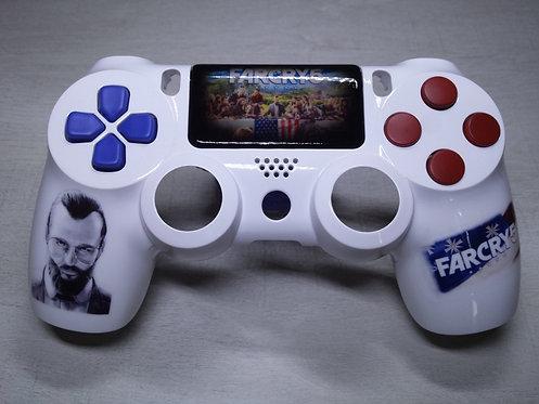 Coque Manette PS4 Custom à l'aérographe !!! Dualshock 4 Sixaxis ! far cry 5