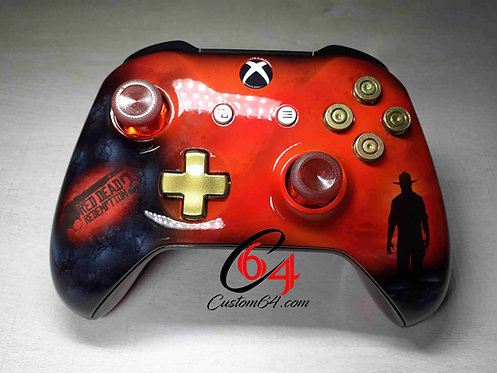 Manette XBOX ONE S Custom red dead redemption 2