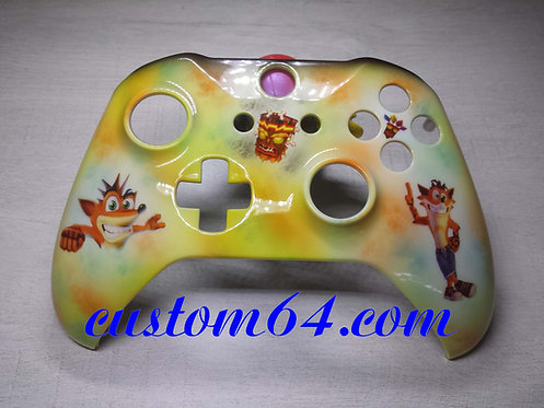 Coque XBOX ONE S Custom crash bandicoot