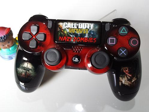 Manette PS4 Custom à l'aérographe !!! Dualshock 4 Sixaxis zombie