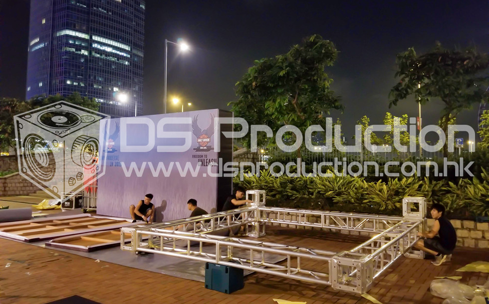 Event Truss Backdrop at Lung Wo Road