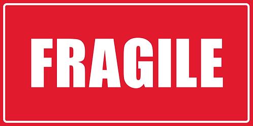 Artnr.: ETP14213, Fragile, 50x100 mm, 40 mm kjerne