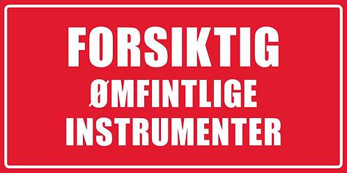 Artnr.: ETP14206, Ømfintlige instrumtenter, 50x100 mm, 40 mm kjerne