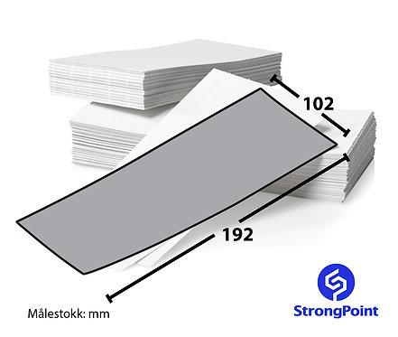 Artnr.: PSP72191, Fanfold thermoetikett, 102x192 mm
