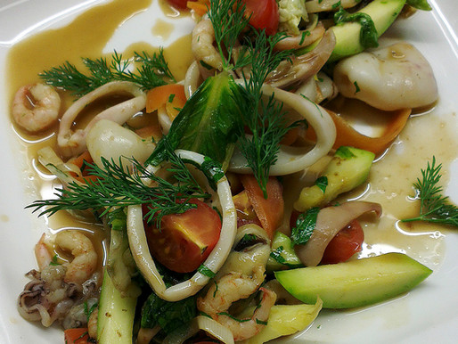 Рецепт от шеф. Соте из морепродуктов с овощами
