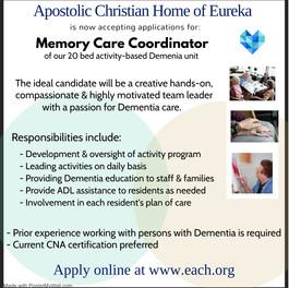 Memory Care Coordinator