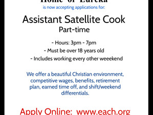 Assistant Satellite Cook - Part-time