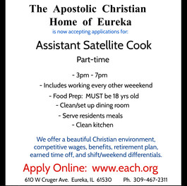 Part-Time Assistant Satellite Cook