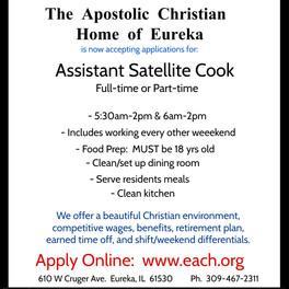 Assistant Satellite Cook