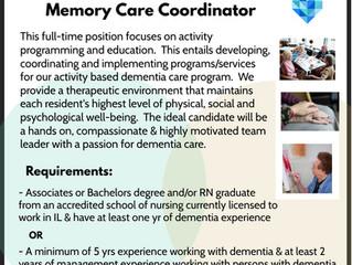 Memory Care Unit Coordinator