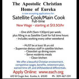 Satellite Cook/Main Cook