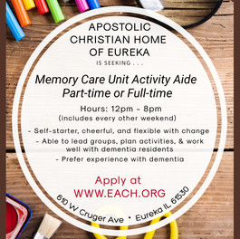 Memory Care Activity Aide