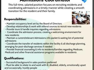 Admissions Coordinator