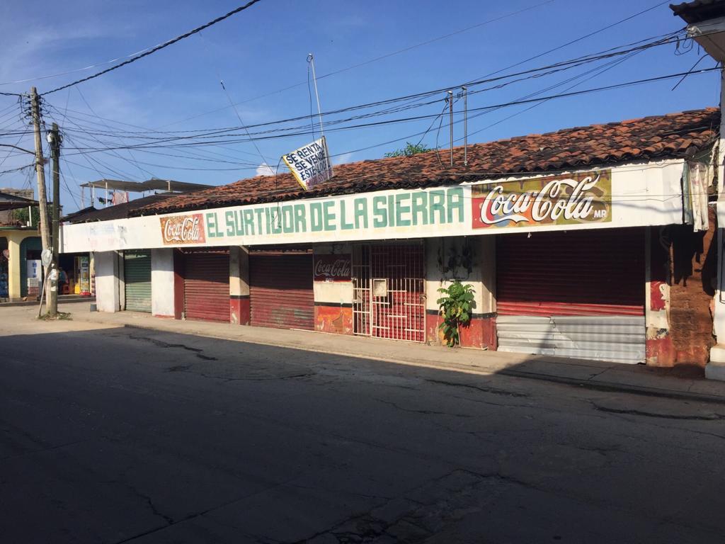 LOCAL COMERCIAL DE 19.90 X 17.20 MTS (342.28 M2) SÚPER UBICADO EN EL CENTRO DE PETATLÁN!!!  - ZONA COMERCIAL - TRANSPORTE PÚBLICO - A DOS CUADRAS DE ZONA DE BANCOS