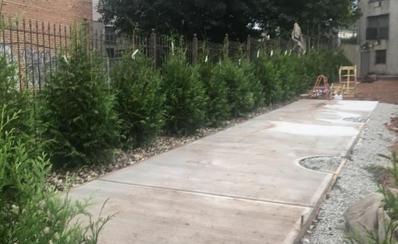Install concrete patio