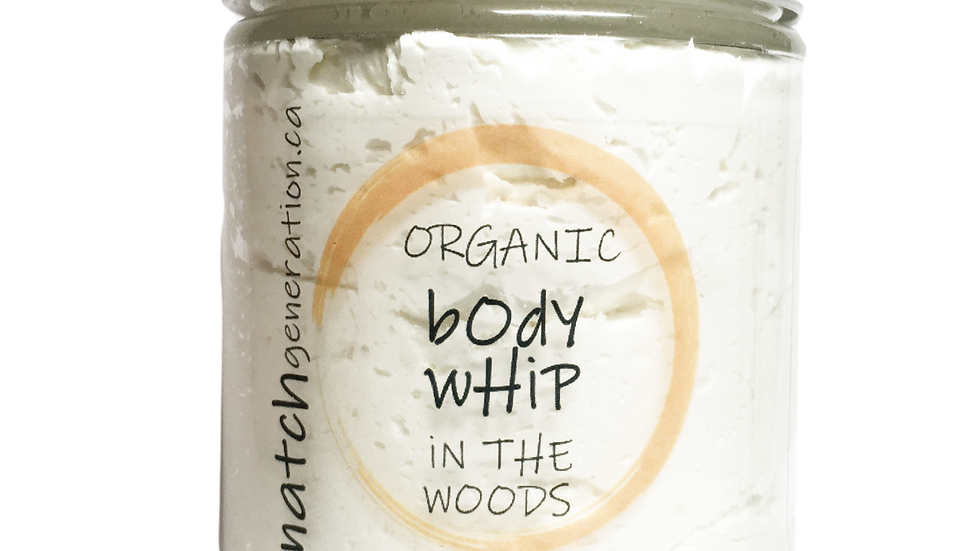 body whip  - in the woods patchouli + fresh pine 8oz