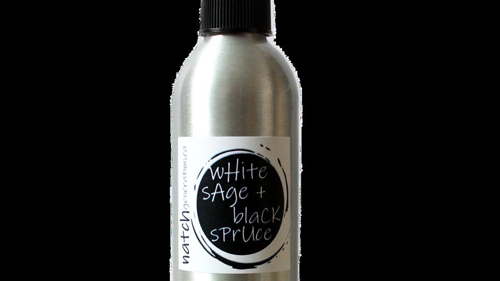 white sage + black spruce space spray