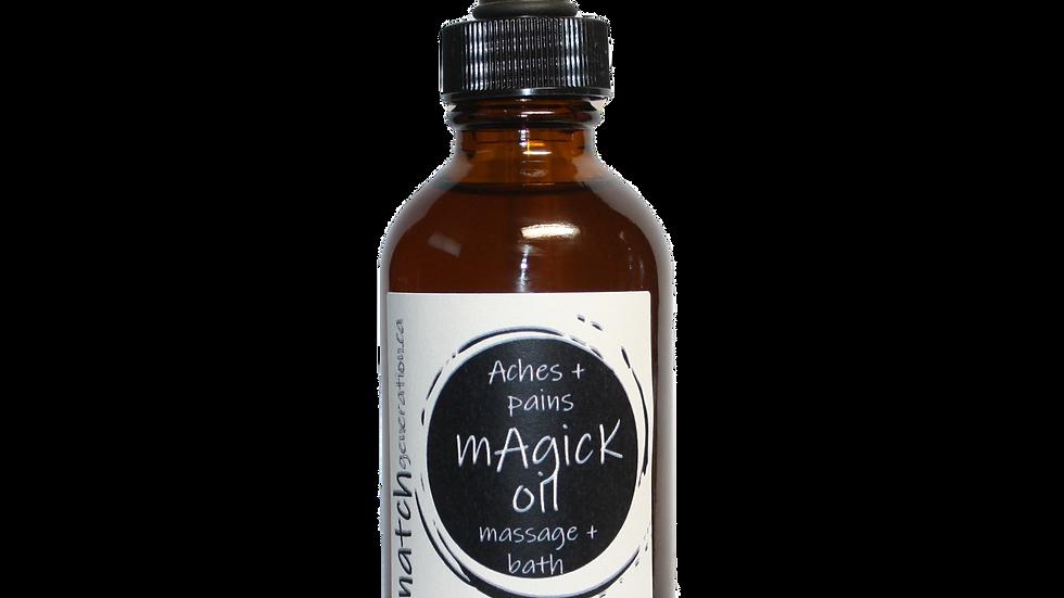 magick oil - wild crafted ache oil 100ml