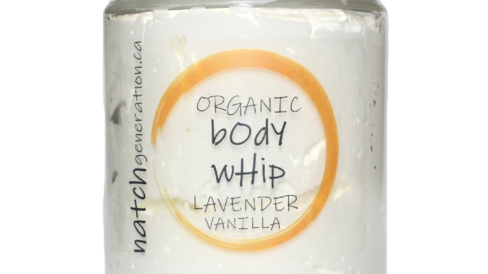 body whip - lavender vanilla 8oz