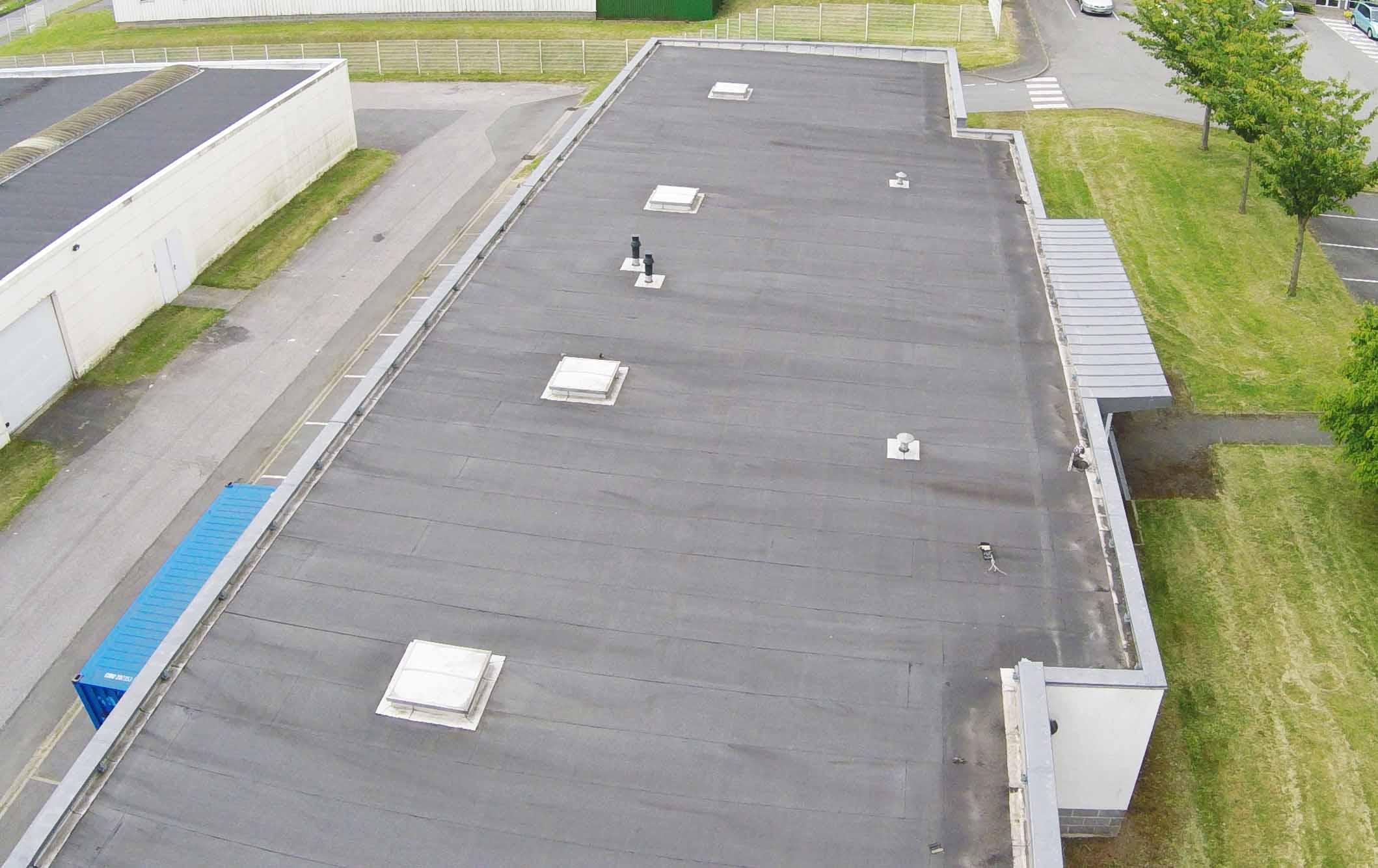 Relevé toiture par drone
