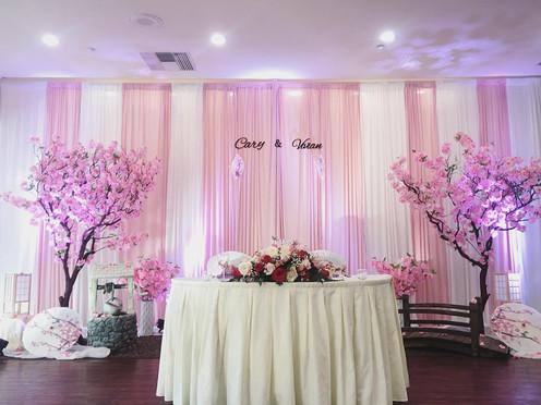 Custom Backdrop - Cherry Blossom Theme
