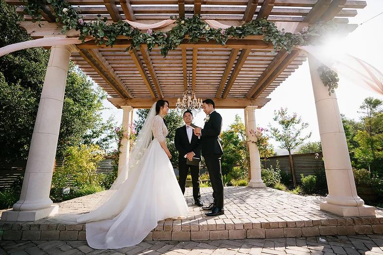 Outdoor Pergola Wedding Sunol Casa Bella