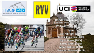 Top 20 Result for Alison Jackson (CAN), Next Up: Tour of Flanders