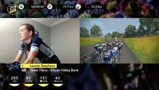 TIBCO-Silicon Valley Bank first place in Virtual Tour de France standings