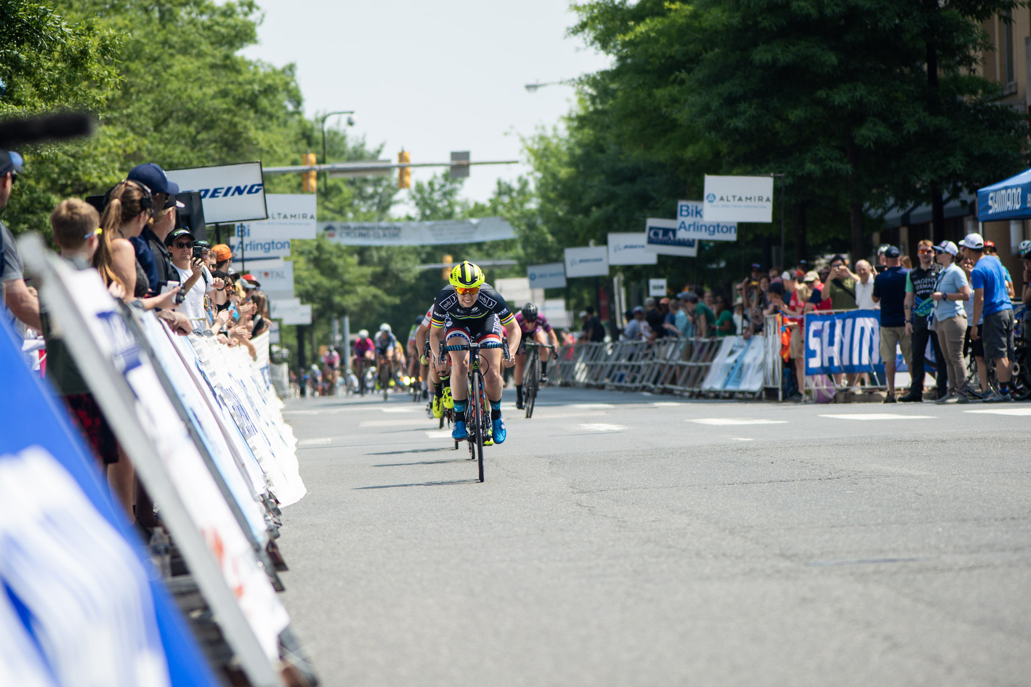 The final sprint at Clarendon Cup