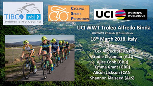 Team TIBCO - Silicon Valley Bank Releases Roster for Trofeo Binda