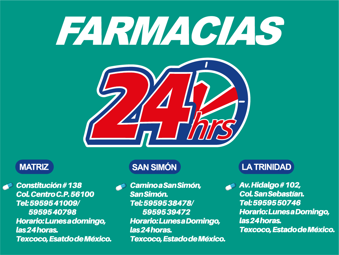 24 HORAS FARMACIAS