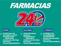 24 HORAS FARMACIAS