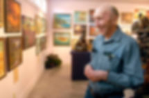Dad in museum, by Linda Thompson.jpg