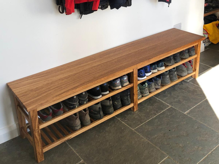 Oak Boot Bench