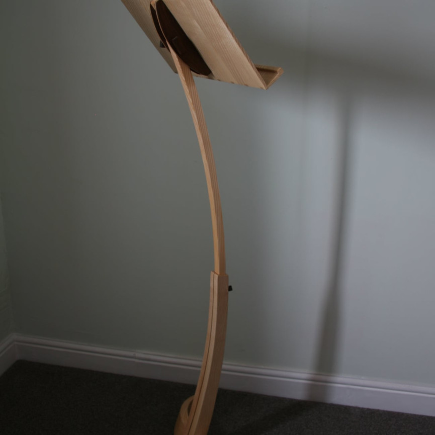 Ash and Walnut adjustable curved music stand