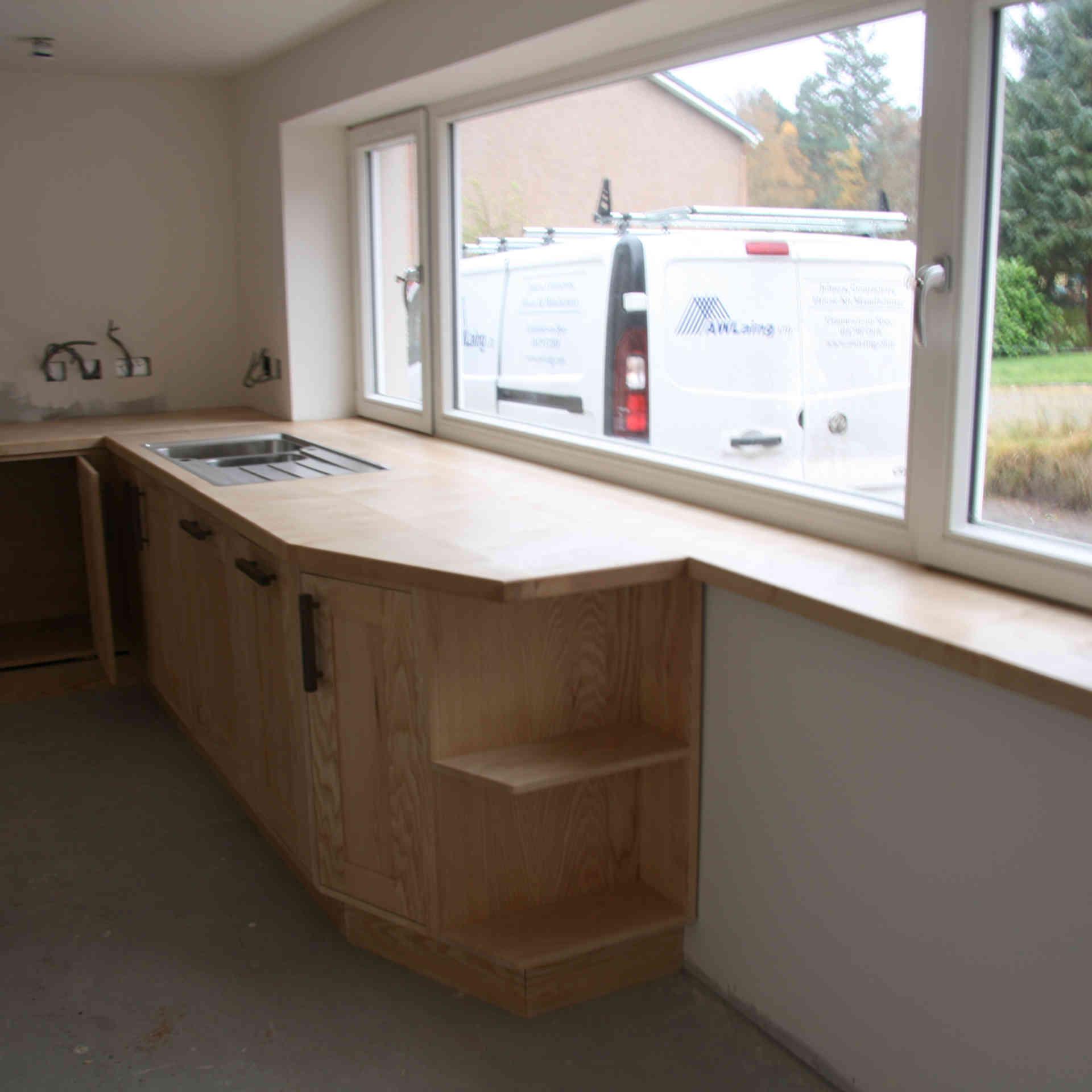 Solid Ash kitchen
