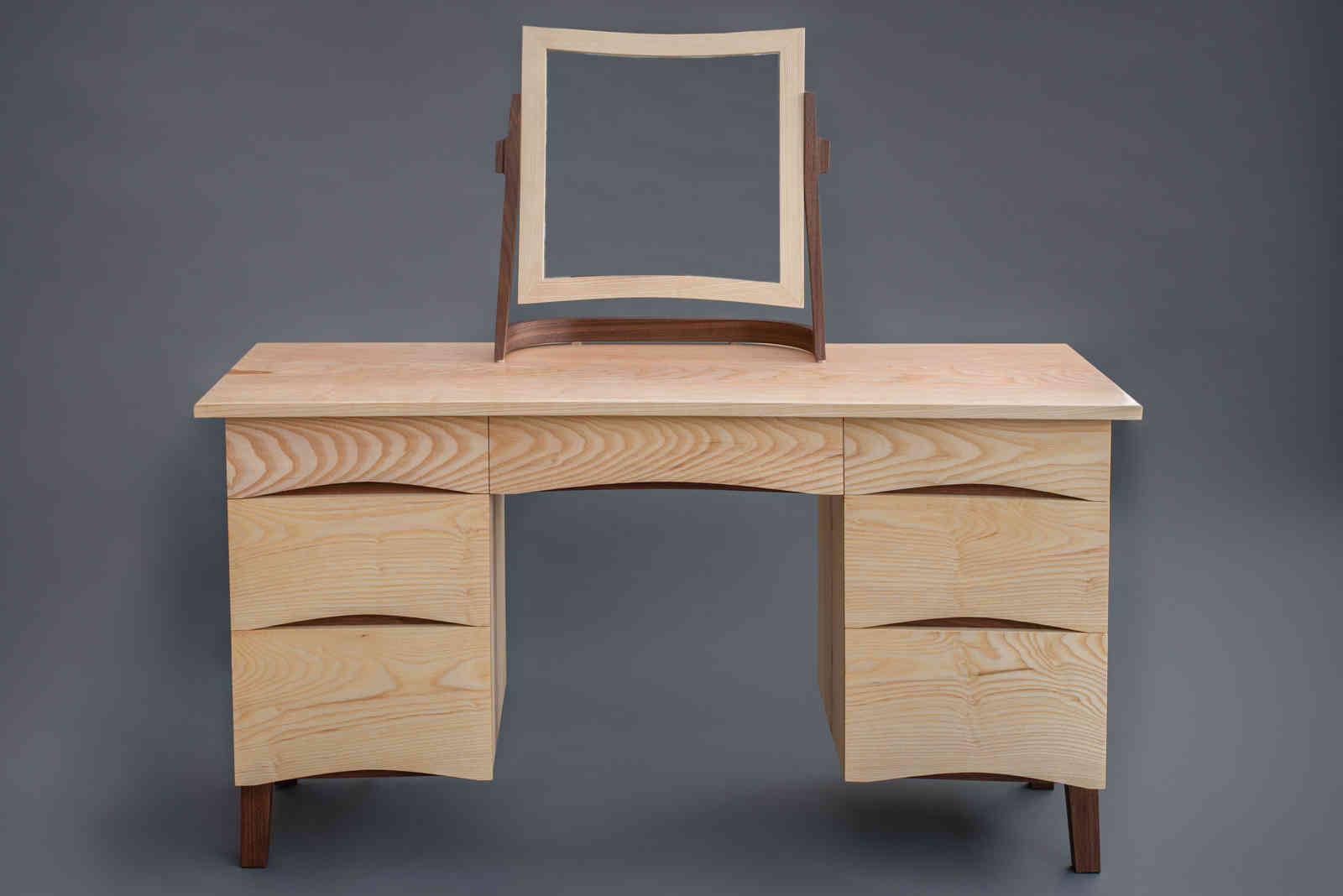 Ash and Walnut Dressing Table