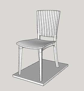 Sketchup drawing of Ash Chair