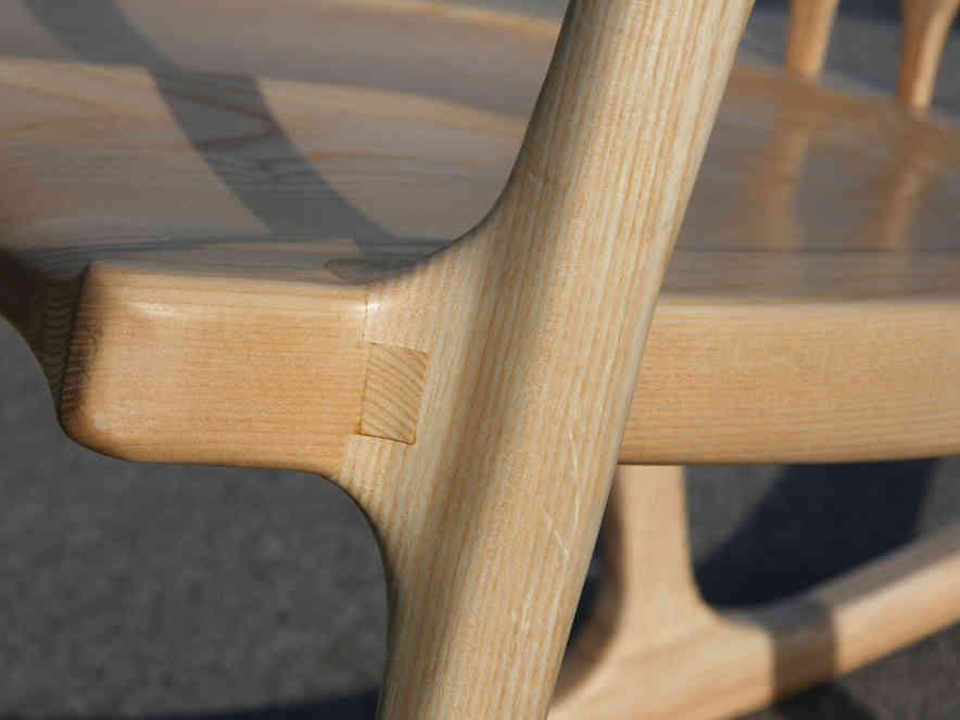 Detail of ash rocking chair