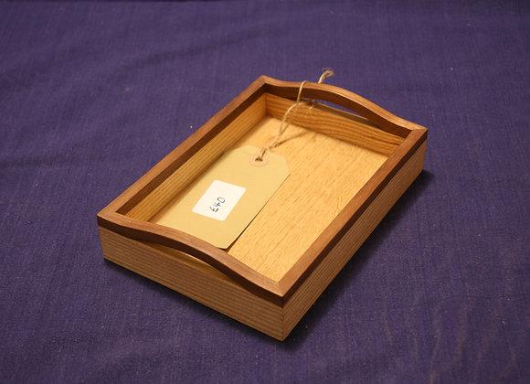 Small ash and walnut tray
