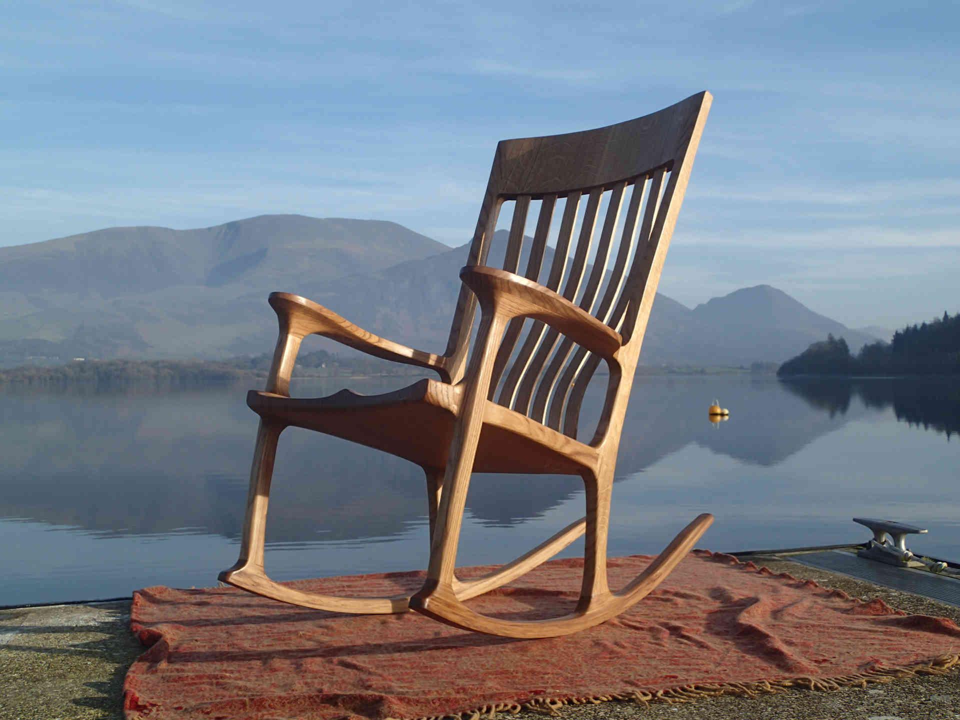 English Oak Rocking Chair