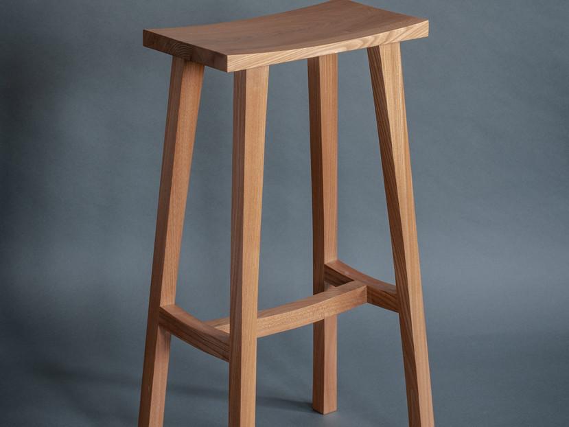 English elm bar stool