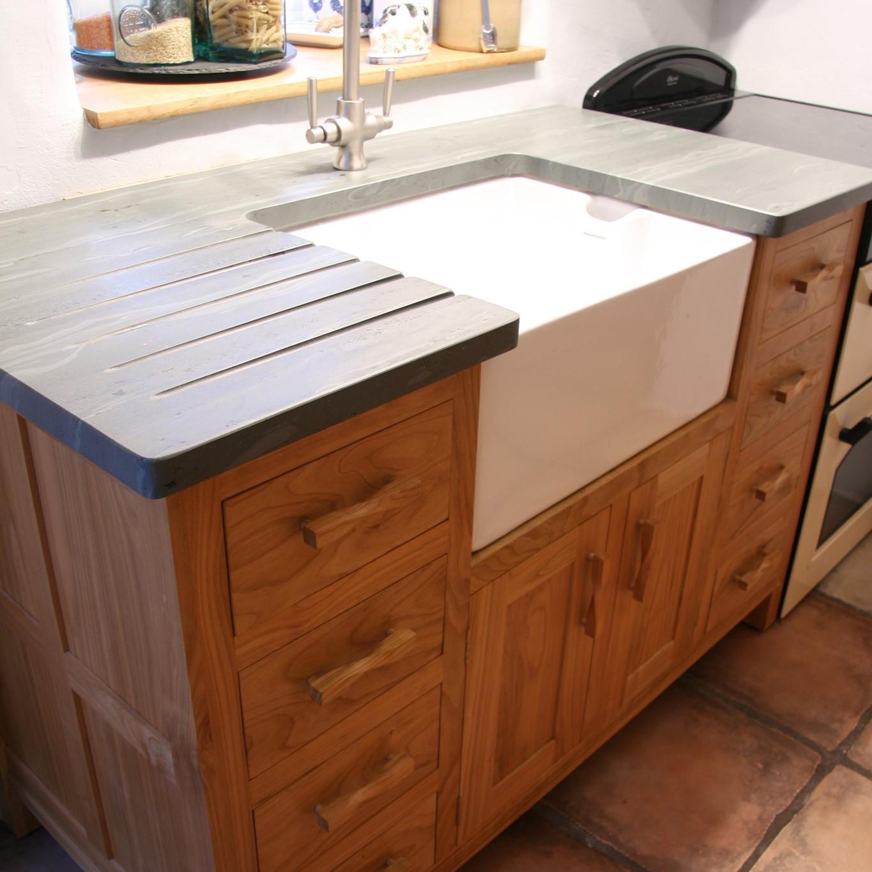Slate top sink unit