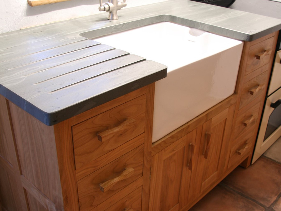 Cherry and Slate sink unit
