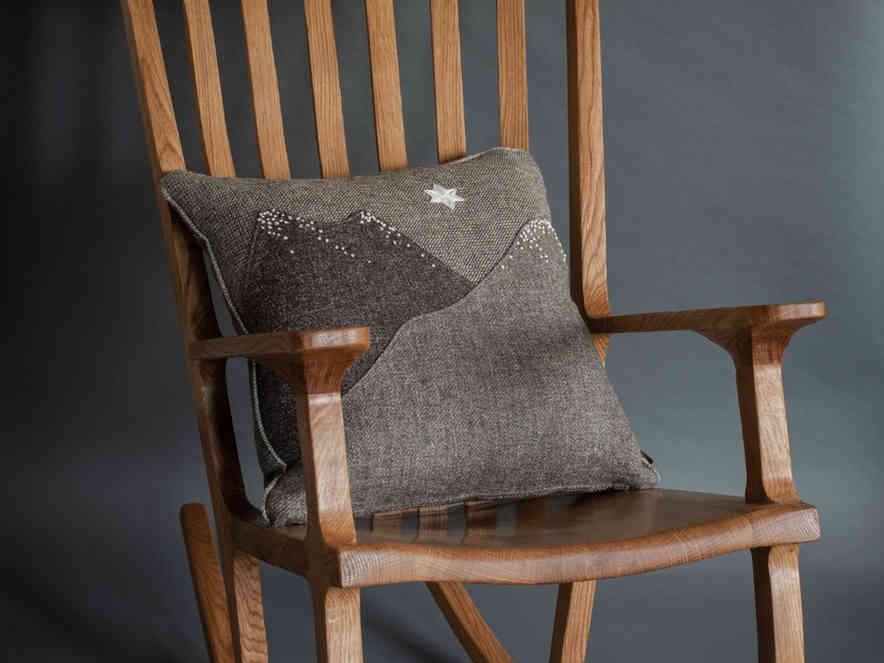 Oak rocking chair with herdwick cushion