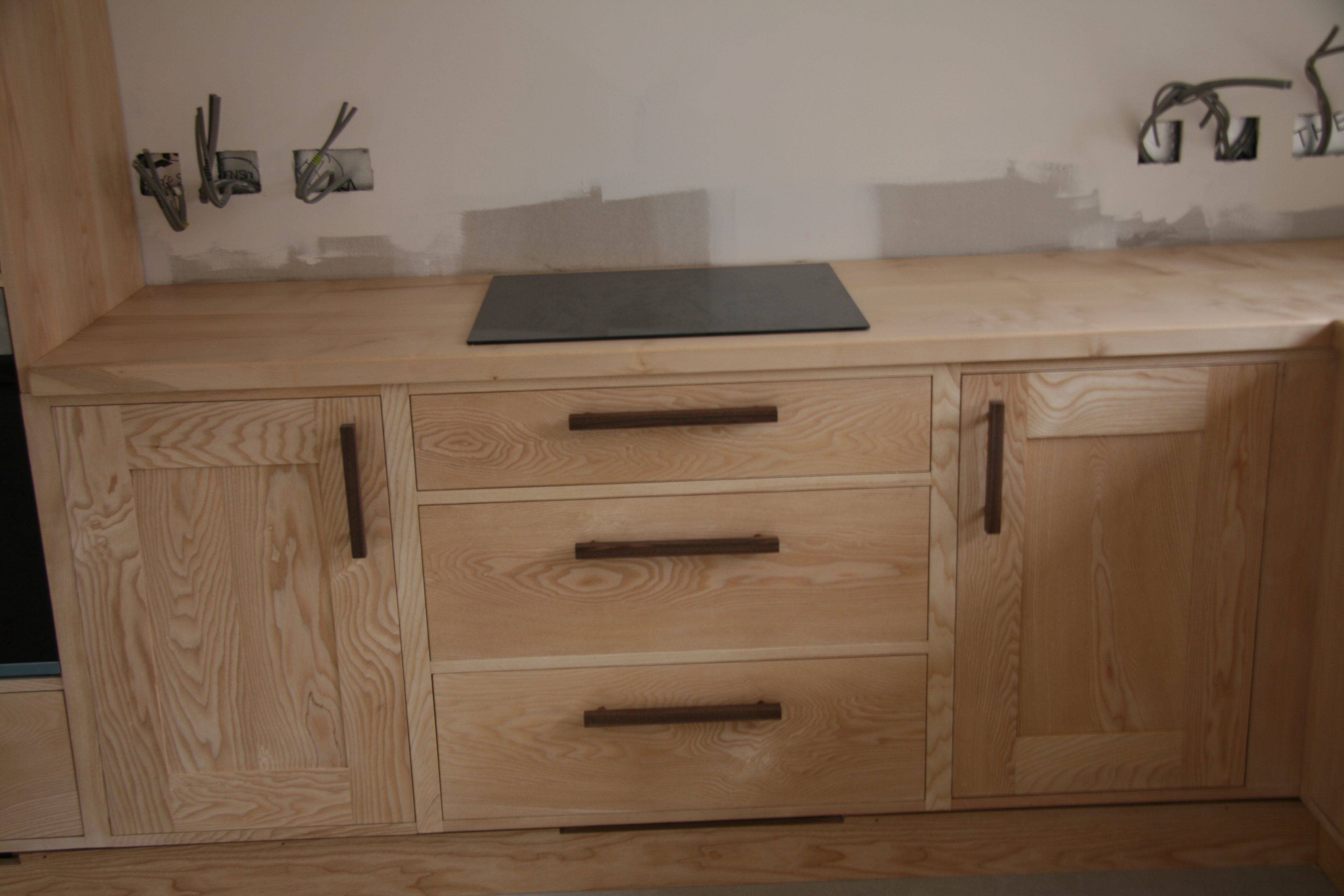 Hob unit with drawers