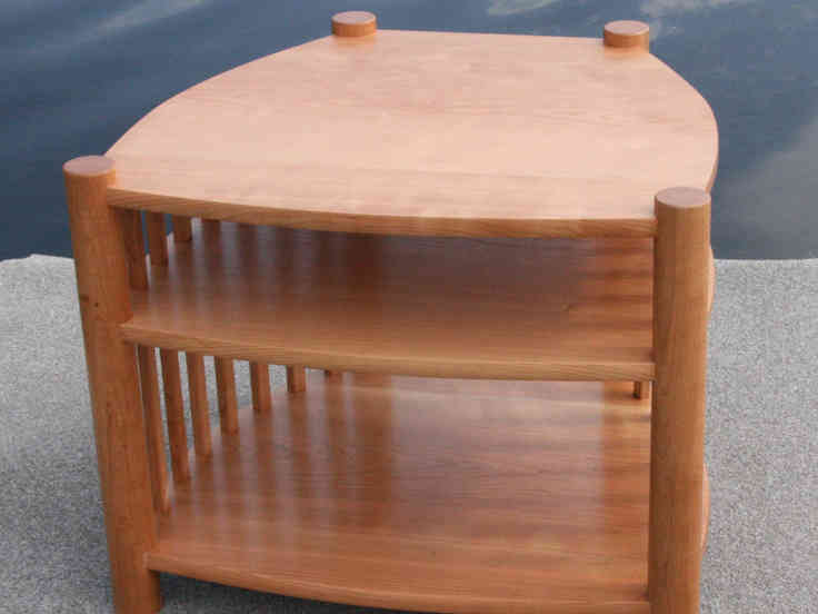 TV Table made from cherry