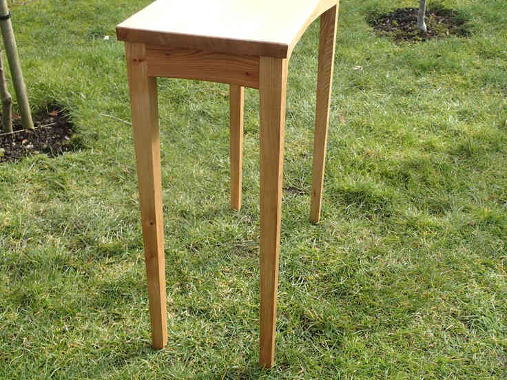 English Elm console table