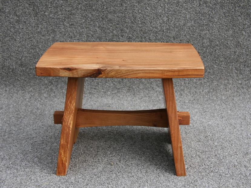 Reclaimed Elm foot stool